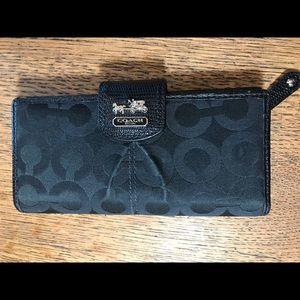 Coach Black Checkbook/ Wallet
